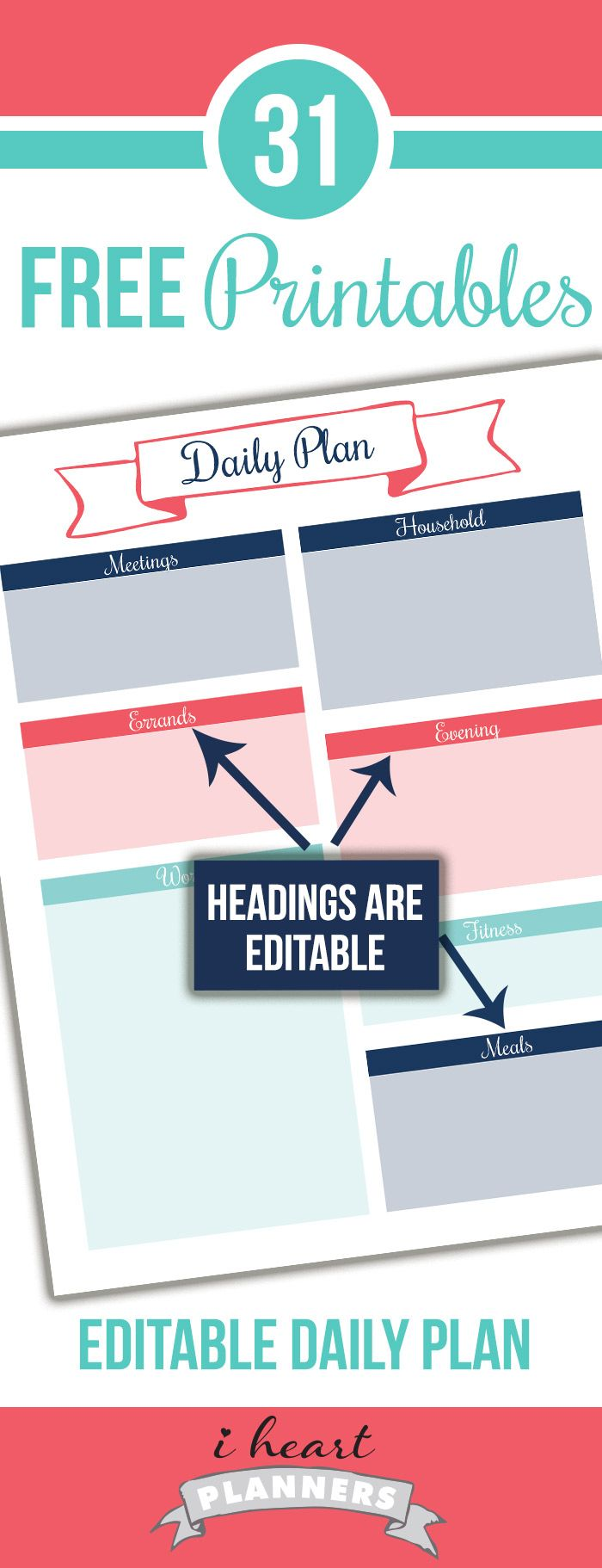 Day 17: Editable Daily Planning Printable