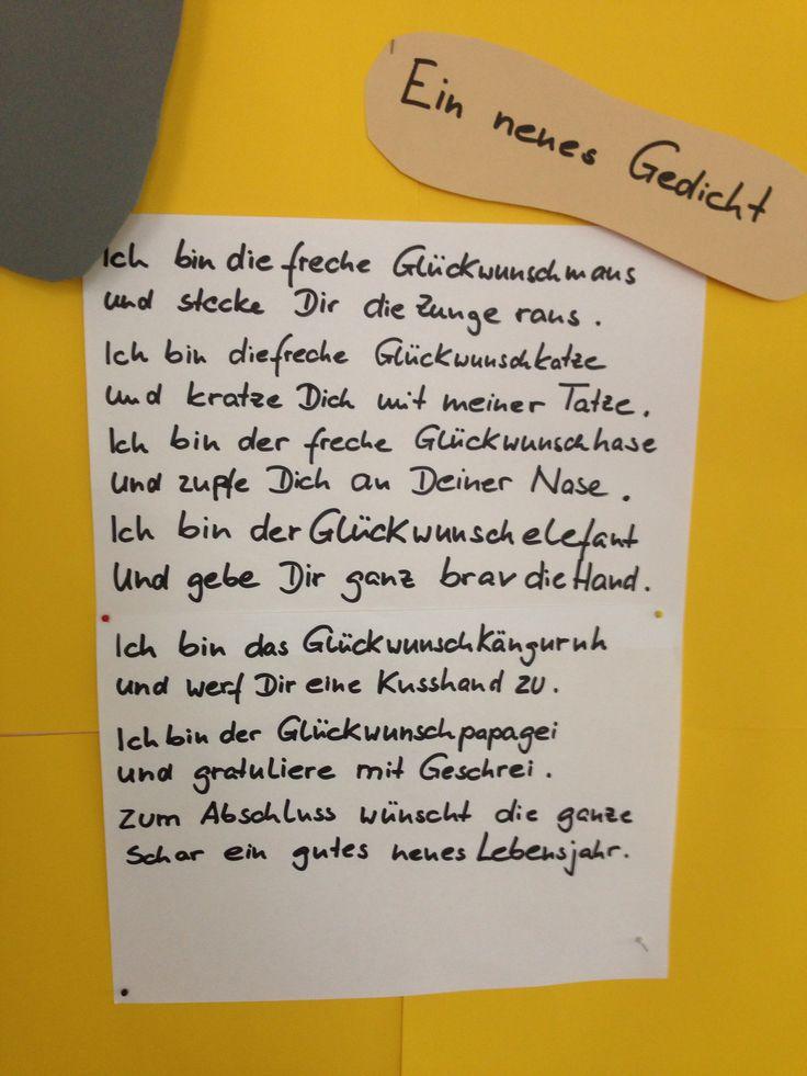 Ein neues Gedicht: Die Glückwunschmaus.