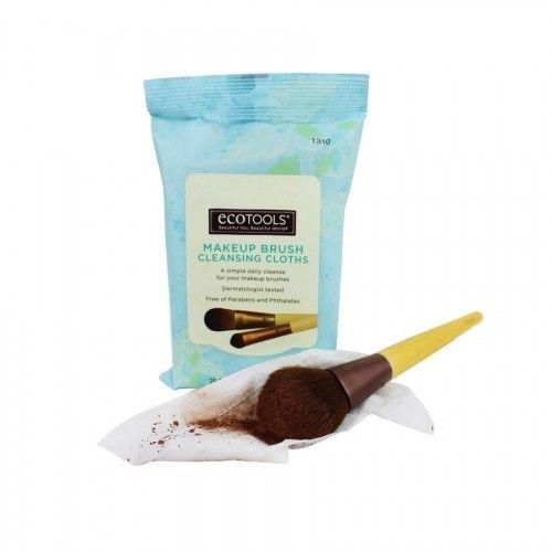ECOTOOLS 1310 Makeup Brush Cleansing Cloths, πανάκια καθαρισμού πινέλων. Βρείτε τα στο aromania.gr μόνο με 8,70€! #aromania #ECOTOOLS