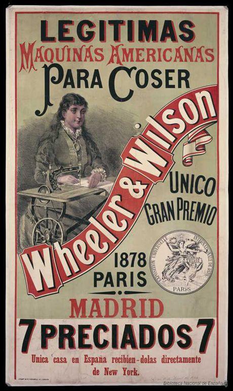 Máquinas de Coser Wheeler & Wilson