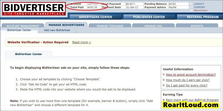 17 Best images about BidVertiser on Pinterest Display, Earning - payment advice template