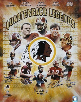 Washington Redskins Quarterback Legends Signed 16x20 Ph - Autographed NFL Photos by Sports Memorabilia. $400.79. WASHINGTON REDSKINS QUARTERBACK LEGENDS SIGNED 16X20 PH