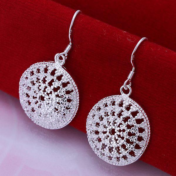 Bán buôn bông tai mạ bạc, 925 đồ trang sức bạc bông tai, túi tròn bông tai smte112