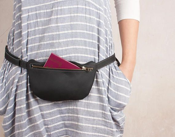 64fa83156772f Small Leather Fanny Pack, women Waist bag, small fanny pack, small ...