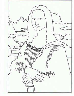 Ünlü Ressamların Tablolarının Boyama Sayfaları