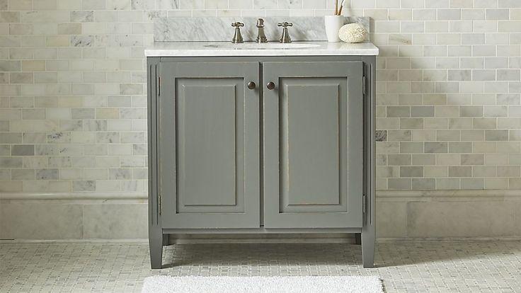 39 best bathroom design images on pinterest room home - Crate and barrel bathroom vanities ...