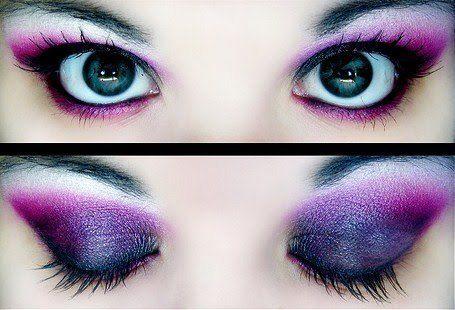 Dark purple eye makeup @Tina Lestrange is gorgeous!!