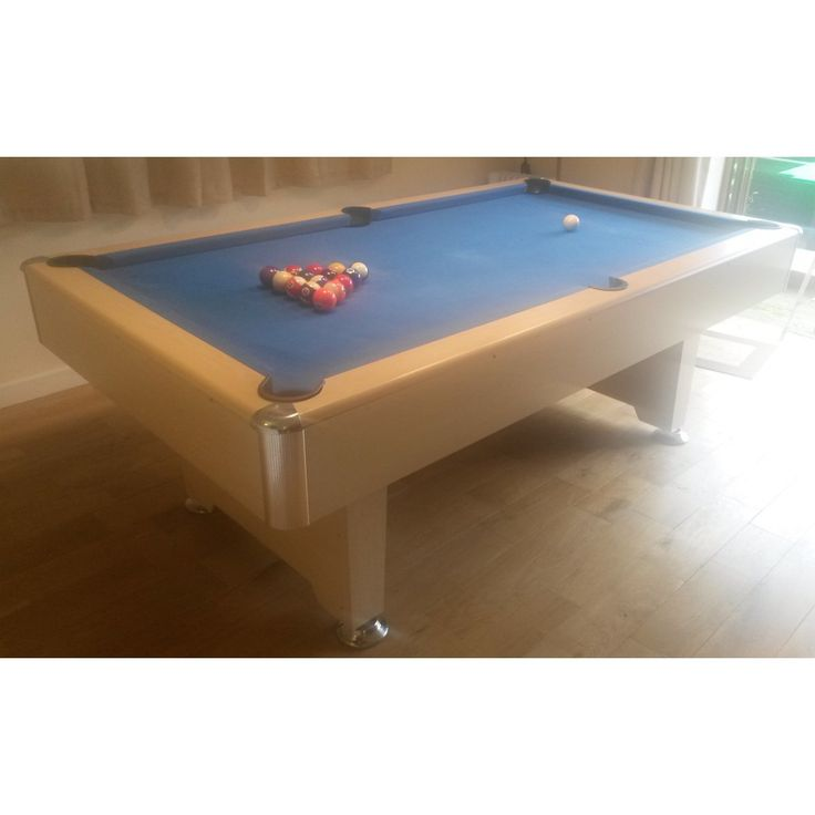 7ft Cobra Premier Slate Bed Pool Table, Oak Effect, Blue