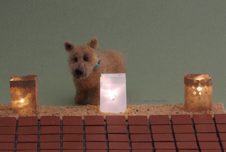 Make these miniature scale luminarias with or without battery operated LED lights.