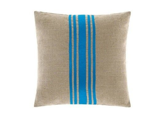 Metallic Stripe Cushion in Blue by Linen House. Featured on The Block, available in Forty Winks