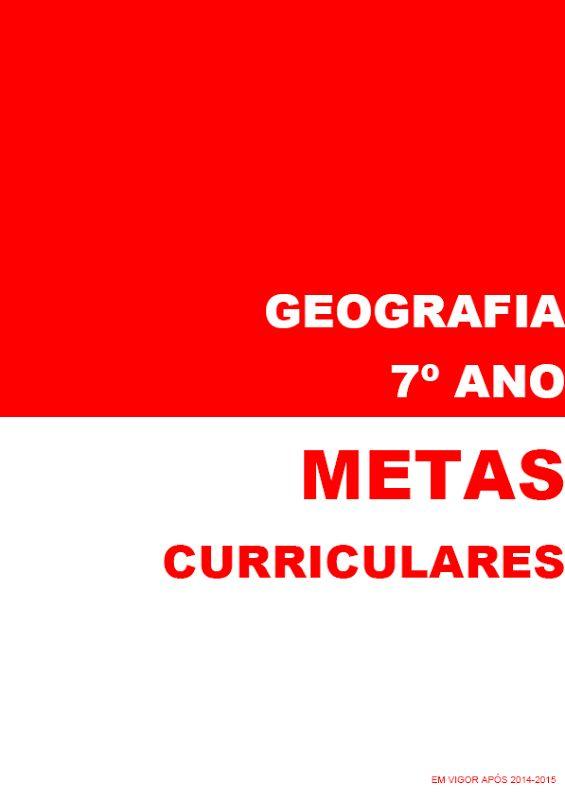geografia e ensino de geografia   blog: Metas de Geografia para o sétimo ano