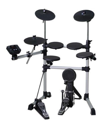 Medeli DD402D Electronic Drum Set by Medeli. $449.99. The Medeli DD402D Electronic Drum Set Features 4 Drum Pads, 3 Cymbal Pads a Hi-Hat Pedal and a Bass Drum Pad. There are 108 Voices, 10 Drum Kits, 40 Patterns and a Demo Song.