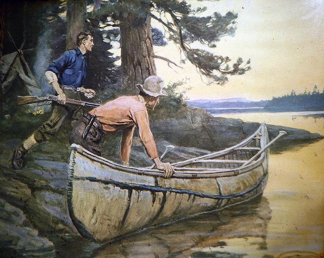 Going hunting from the birchbark canoe. by V-rider, via Flickr