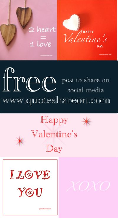 Free social post to share, Happy Valentine's Day quotes