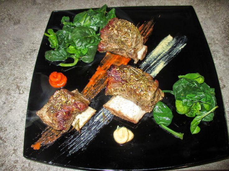 FORNELLI IN FIAMME: BAKED BEEF RIBS - Costine di manzo con insalata di spinaci