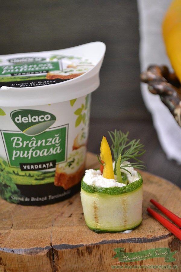 Rulouri din Zucchini si Branza Pufoasa cu Verdeata.Aperitive festive cu crema de branza cu verdeata.Gustari rapide cu zucchini, crema de branza si anchoa