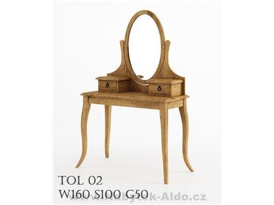 Rustikální toaletní stolek TOL02