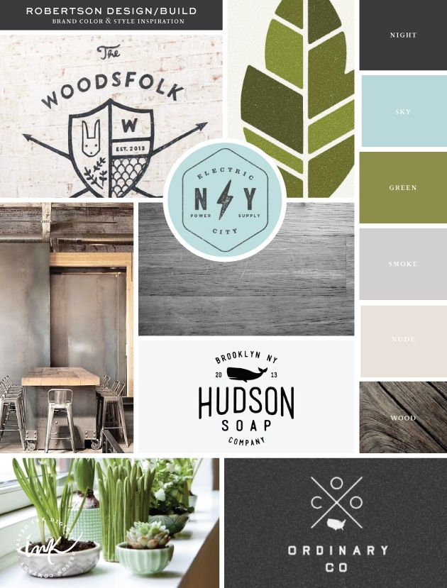 """""""refreshing masculine palette with organic undertones. Combining dark grays/wood with the sky blue and earthy green."""""""
