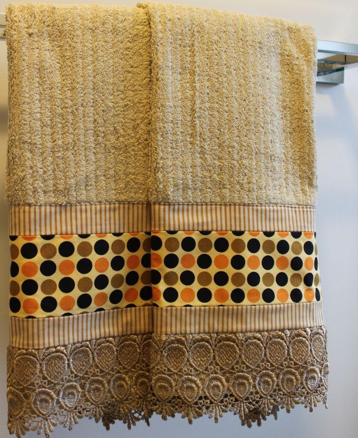 Jogo de toalhas de rosto e banho