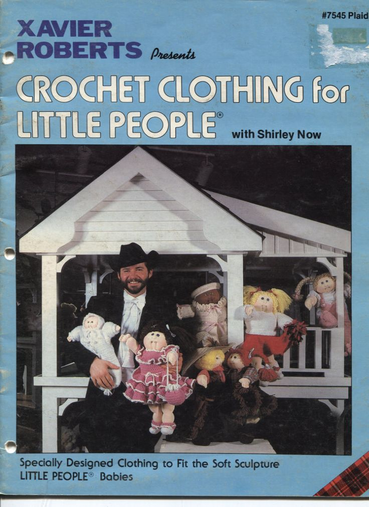 Cabbage Patch Kids Crochet Clothing Patterns by Xavier Roberts Plaid Number 7545 by OnceUponAnHeirloom on Etsy