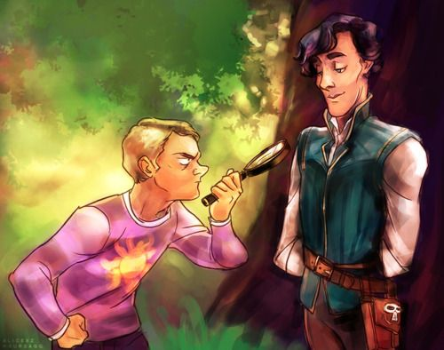 Oh God, Sherlock as Flynn Ryder.  I think my ovaries just exploded, reconstructed, and then exploded again.