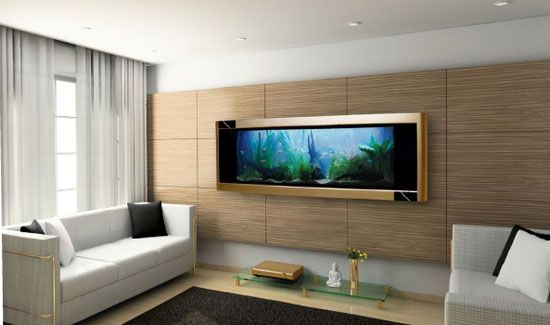 Acuarios elegantes y hermosos para salas de estar para for Cortinas elegantes para sala