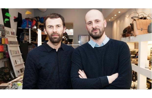 Komono accessories designers Raf Maes, left, and Anton Janssens.