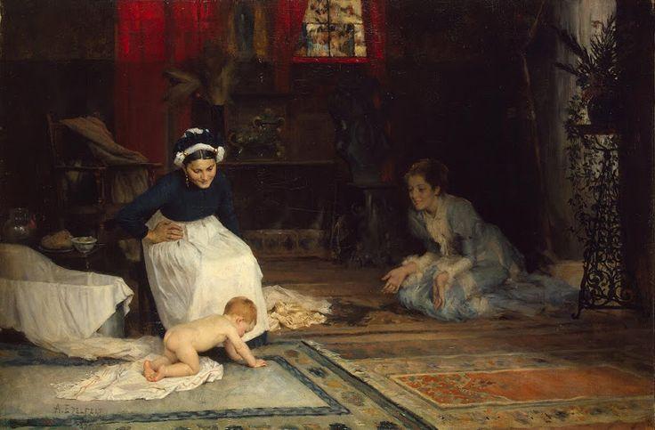 Albert Edelfelt, paintings - In the Nursery, 1885