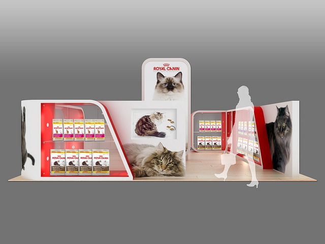 Royal Canin Mall Activation Unit - Rear View