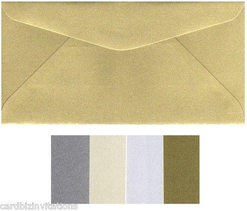 Metallic DL envelopes, many colours.