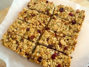 Dried Cranberry & Mixed Nut Muesli Bars - Recipe by Megan Cameron-Lee APD