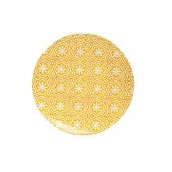 Comptoir Libanais - Plate - Flower - Yellow - 21 cm - Plates