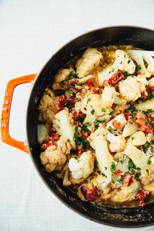 Creamy Braised Cauliflower