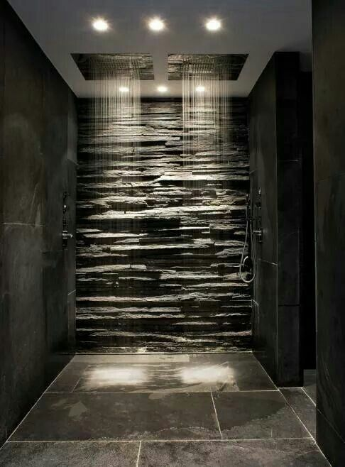 Double head stone shower