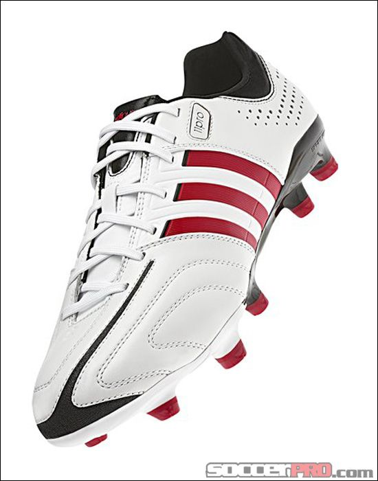 adidas adipure 11Pro TRX FG Soccer Cleats - Running White and Vivid Red.