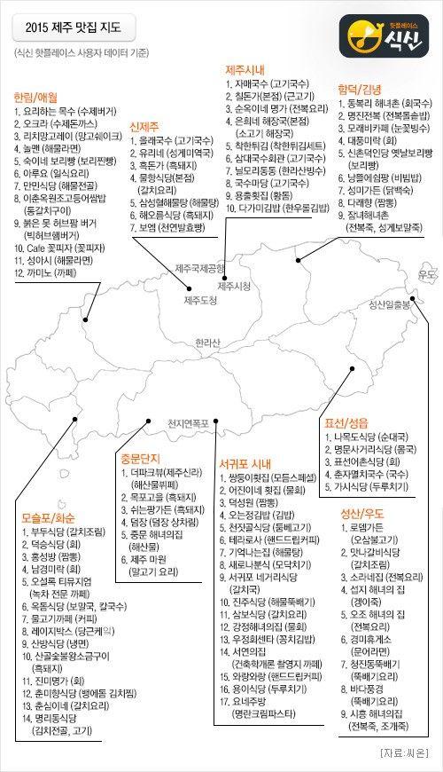 식신 핫플레이스, 2015년 제주 맛집 지도 공개 : 네이버 뉴스