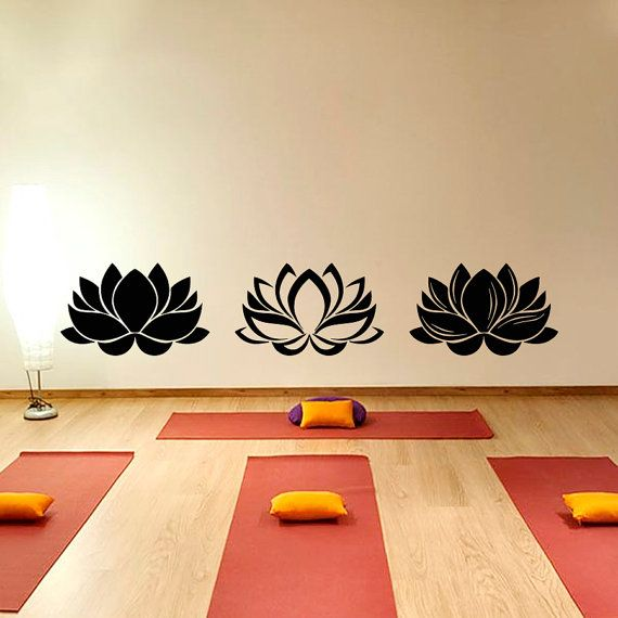 Lotus Wall Decal- Yoga Wall Decal- Lotus Flower Yoga Decals- Lotus Wall Art Flower Floral Living Room Bedroom Yoga Studio Home Decor  ★★★Welcome to our shop!★★★  ★ SIZE AND COLOR ★ Approximate Item Sizes:  6 Tall x 28 Wide 7 Tall x 38 Wide  ✓✓✓If this size is inappropriate for you, you can contact us and provide your dimensions and we can create for you decal of any size. ✓✓✓Please note that any changes of the decal dimensions will result in the price change.Just contact us at first…