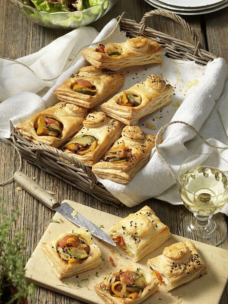 Mediterrán zöldségekkel töltött leveles táskák - Tante Fanny
