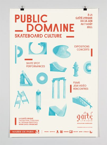 "Gaité lyrique. Identity for the ""Public Domaine"" exhibition at la Gaité lyrique, Paris."