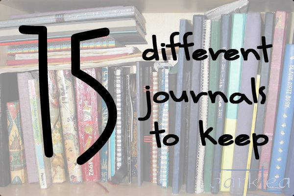 15 different journals or diaries to keep - darktea
