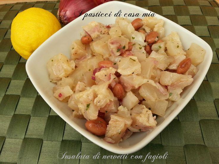 L'insalata di nervetti con fagioli è un'antica ricetta di tradizione contadina, molto saporita e dal gusto deciso, ora ricetta da gourmet.
