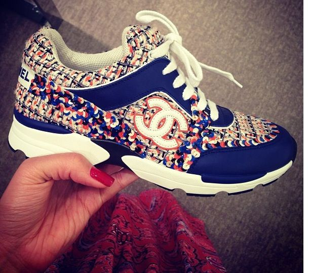 Chanel sneaker, too beautiful to work out in!