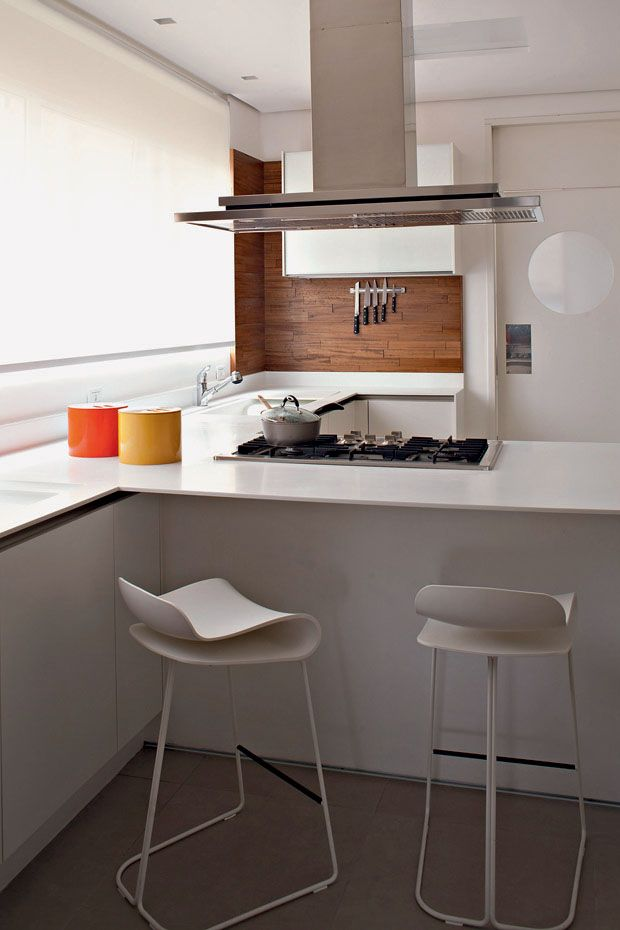 White Kitchen Wood Splashback K I T C H E N