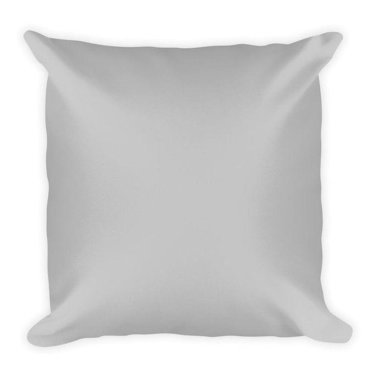 Silver Square Pillow