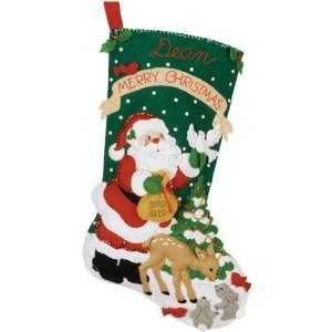 DIY Your Christmas Stocking : This Christmas stocking for you who love to make Christmas stocking yourself. This company has various festive design set you can choose and quality materials. When it ready to be hung, it will be 18 inches long. Dare to make you Christmas decorations yourself?