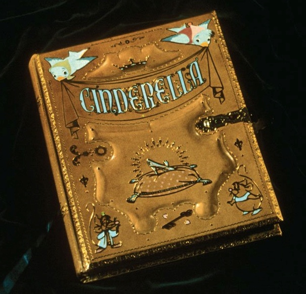 """The original prop story book from Cinderella is now on display at Disney D23's """"Treasures of the Walt Disney Archives."""""""