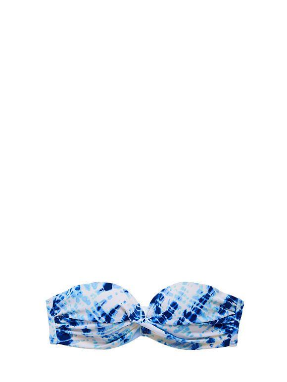 The Knockout Bandeau - blue tie dye