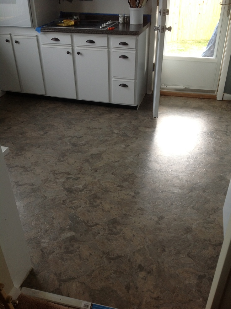 Peel And Stick Tile Floor Over Old Vinyl 88 Cents Per Square Foot