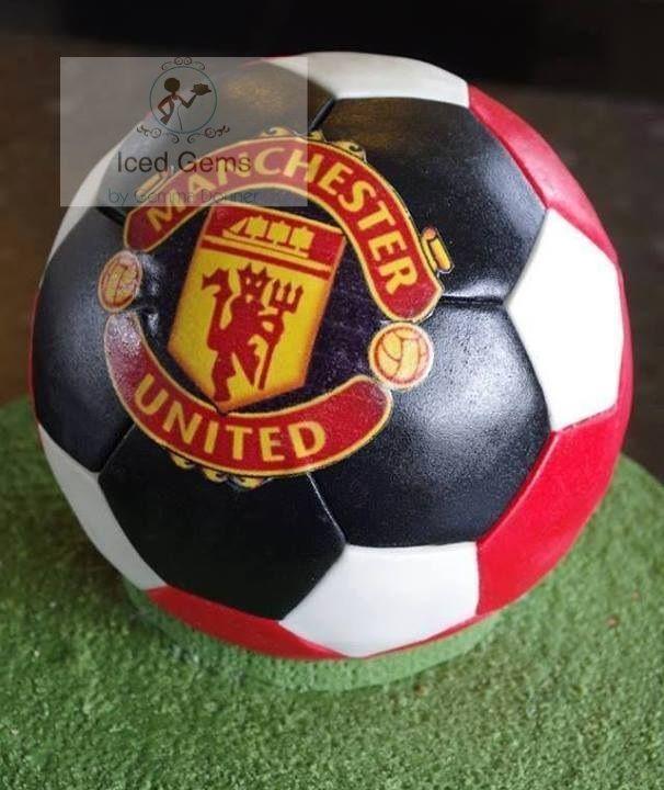 Manchester United football cake. https://www.facebook.com/Icedgemsness/ #manchesterunitedfootballcake