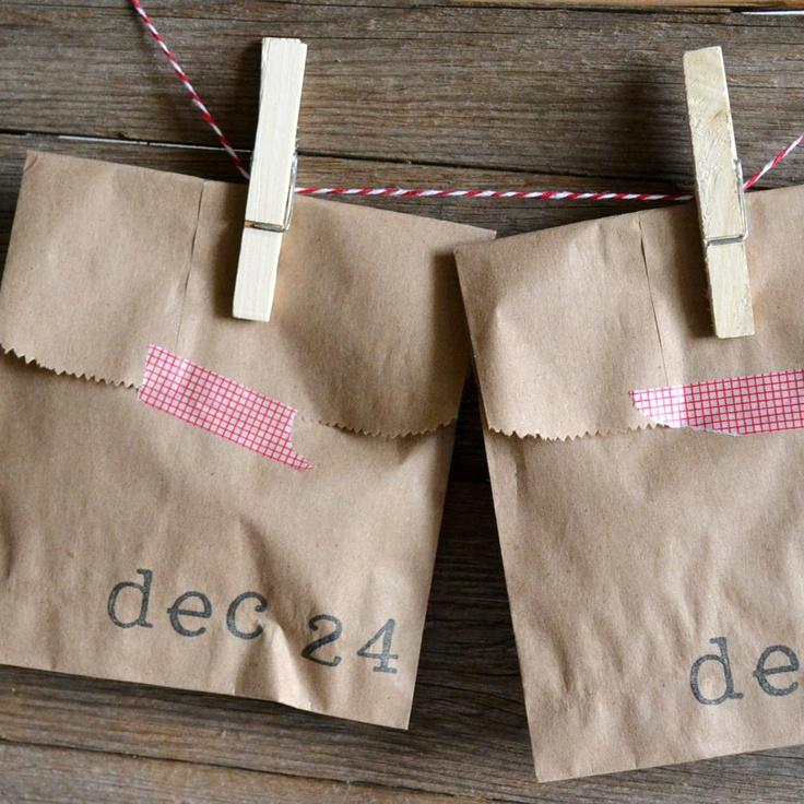 Christmas Advent Calendar Countdown/ I can make these, fill them with treats.
